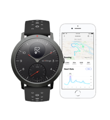 Withings - Steel HR - w/Grey+Blu  w/Black/Rose Gold w Black strap