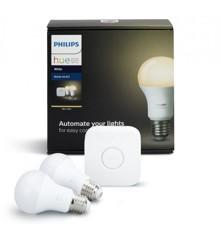 Philips Hue - Starter kit E27 Hvid 2-Pak