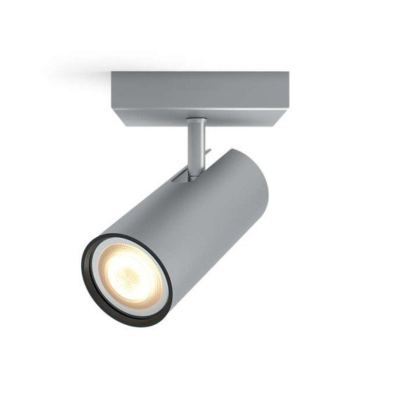 Philips Hue - Buratto Single Spot Without Remote Aluminium - White Ambiance