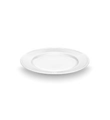 Pillivuyt - Plissé Tallerken Flad - Ø17 cm  - Hvid