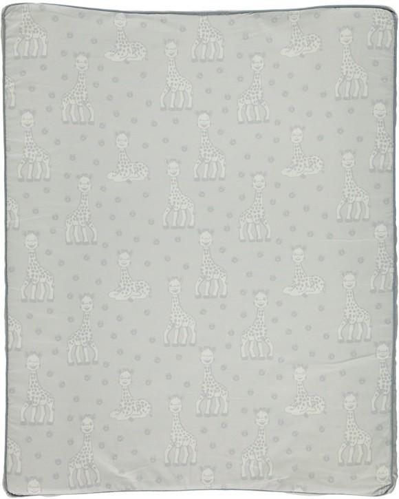 Småfolk - Changing Pad w. Sophie La Girafe Print - Dawn Blue