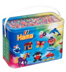 HAMA Perler - Midi -  30.000 perler i bøtte - Solid Mix