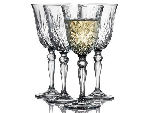 Lyngby Glas - Crystal Clear Melodia White Wine Glass 21 cl - Set of 4 (916099)