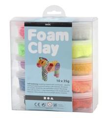 Foam Clay - diverse kleuren, basis, 10x35gr