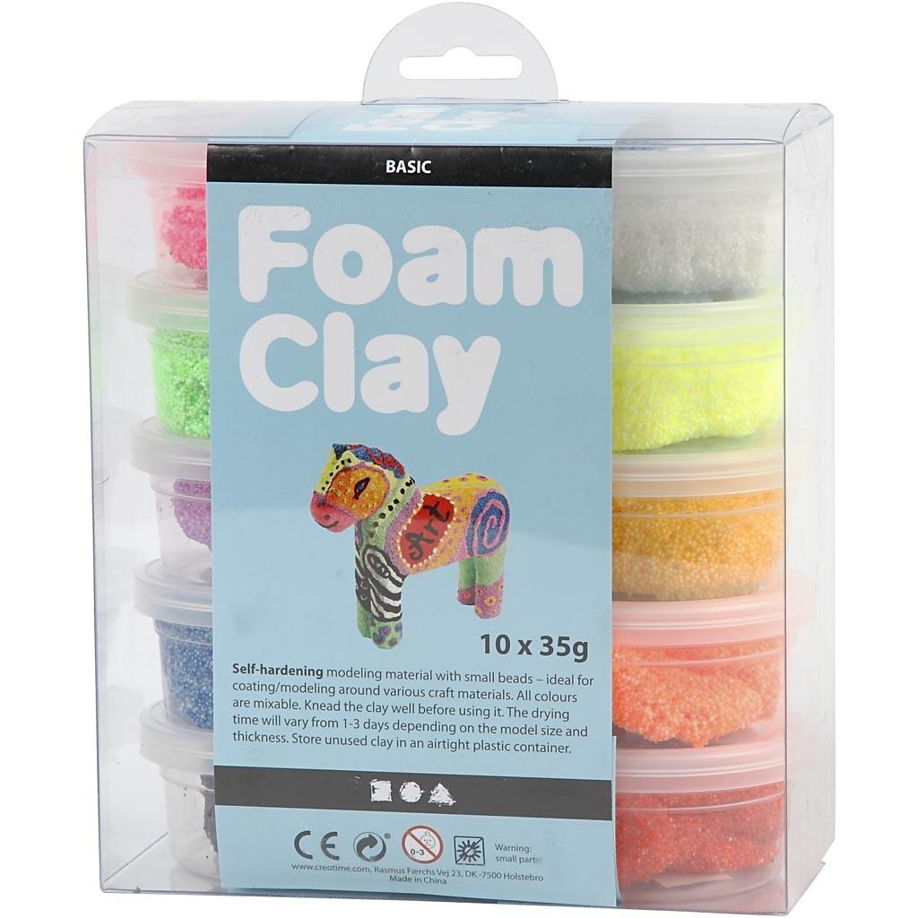 Foam Clay - Sortiment, 10x35 g, Sortierte Farben