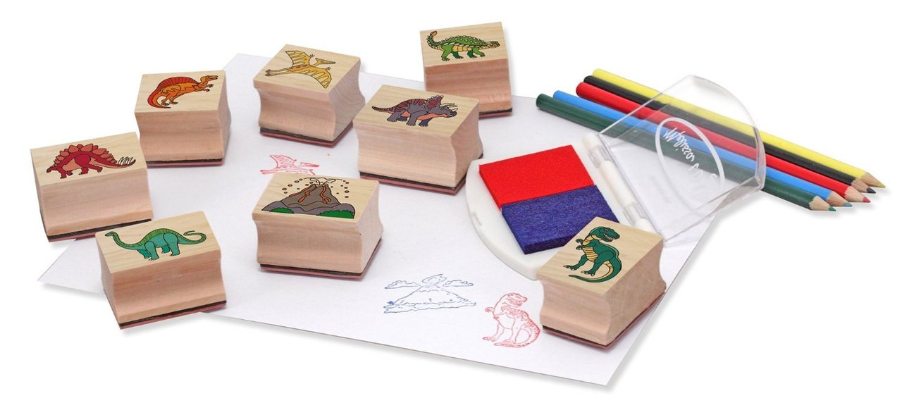 Melissa & Doug - Wooden Stamp Set - Dinosaurs (11633)