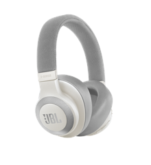 JBL - E65BTNC Wireless Over-Ear NC Headphones White