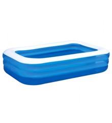 Bestway - Deluxe Blå Rektangulær Familie Pool 3.05m x 1.83m x 56cm (54009)