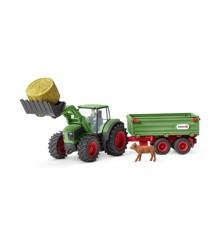 Schleich - Tractor with trailer (42379)