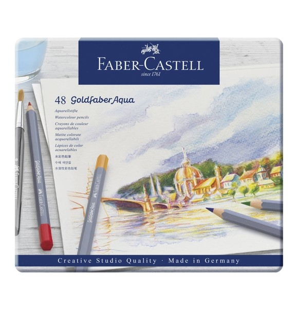 Faber-Castell - Goldfaber akvarel tin, 48 pc (114648)