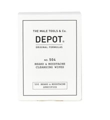 Depot - No. 504 Beard & Moustache Cleansing Wipes 12 Salviette
