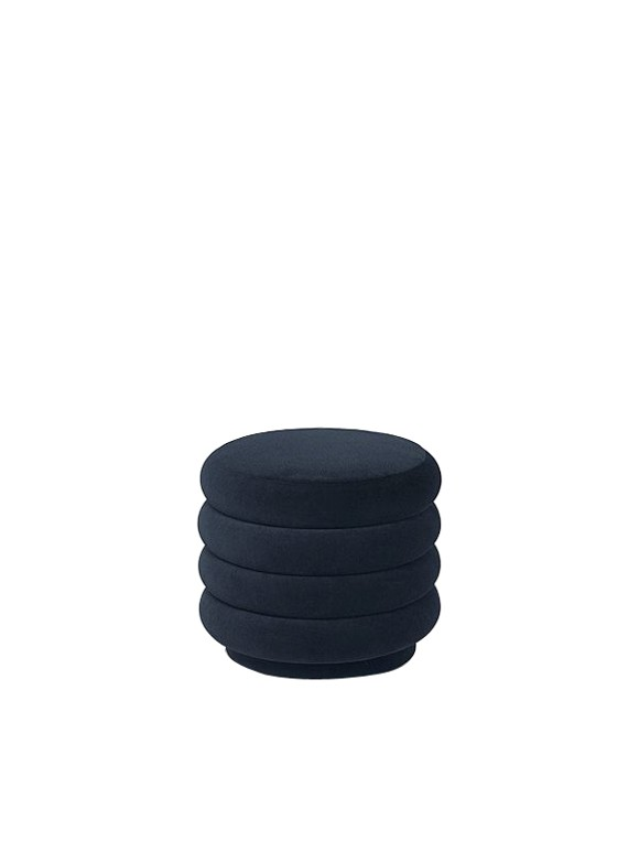 Ferm Living - Pouf Round Small - Dark Blue (9451)