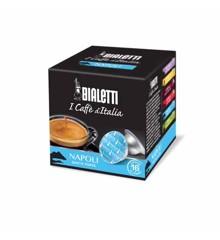 Bialetti - Espresso-Kapseln - Napoli starker Geschmack - 8 Packungen mit je 16 Stück - Blau