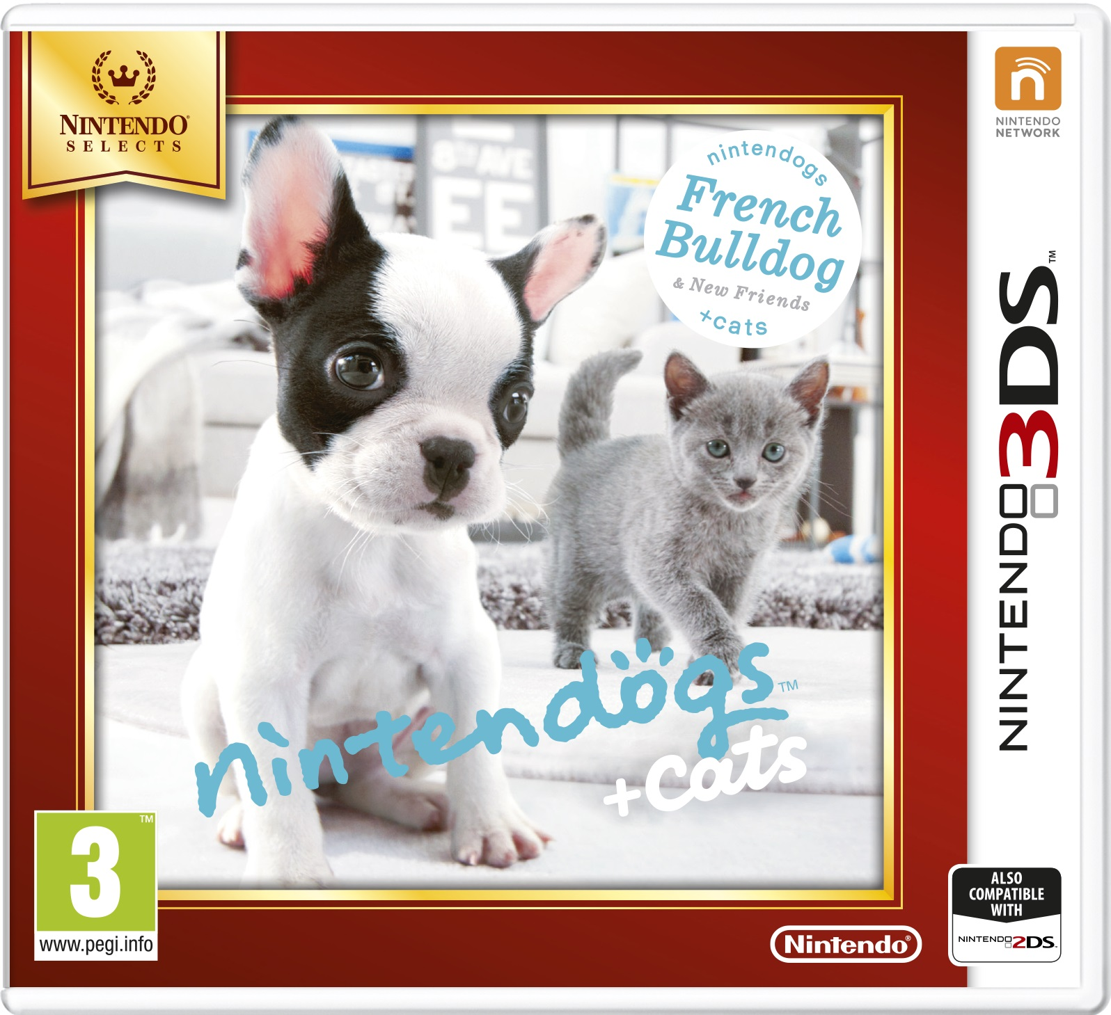 Nintendogs and Cats 3D: French Bulldog (Select)