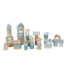 Little Dutch - Blue Wooden Blocks, 50 pcs (LDW4413)