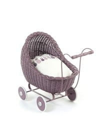Smallstuff - Doll Stroller - Dark Rose
