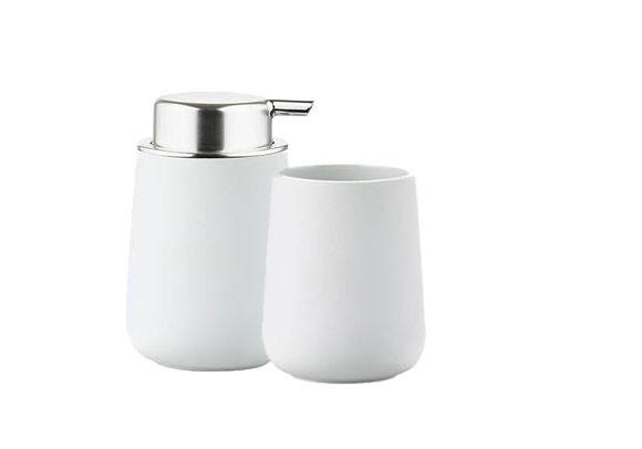Zone - Nova Toothbrush Holder and Soap Dispenser - White