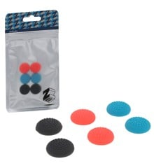 ZedLabz dotted silicone thumb grip stick caps for Nintendo Switch joy-con controllers - 6 pack multi colour neon