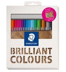 Staedtler - triplus fineliner 334 - Pencil case with 20 assorted BRILLIANT COLOURS