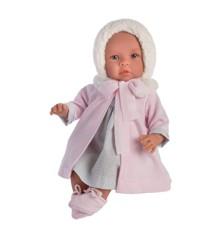 Asi dukker - Leonora dukke i smuk vinterfrakke, 46 cm