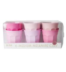 Rice - Medium Melamin Kopper 6 Stk - 50 Shades of Pink