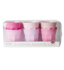 Rice - Medium Melamine Cups 6 Pcs. - 50 Shades of Pink
