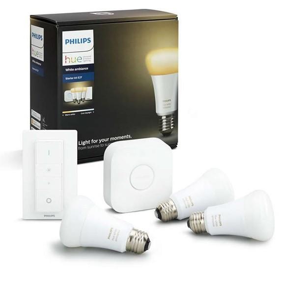 Philips Hue - E27 (3-Pack)  Starter kit  - White ambiance