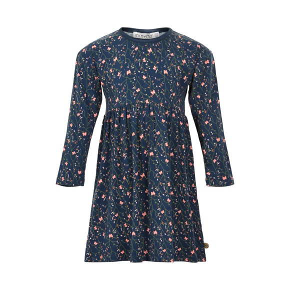 MINYMO - Dress LS w. AOP
