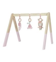 Little Dutch - Holz Babygym Spieltrapez mit Spielzeug, Pink (LDW4439)