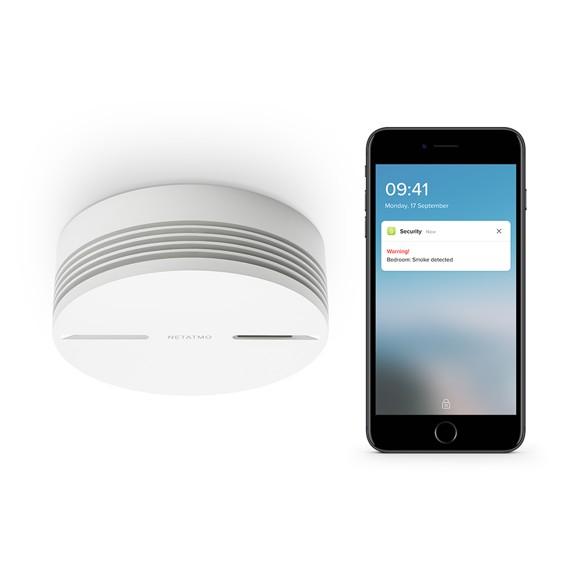 Netatmo - Smart Smoke Alarm 85dB Siren, Wi-fi, Bluetooth