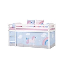 Hoppekids - Play Curtain Half-High Bed 90x200 cm - Unicorn