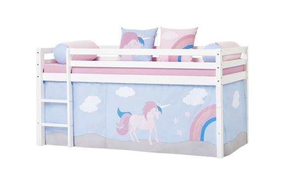 Hoppekids - Play Curtain Half-High Bed 90x200 cm - Unicorn