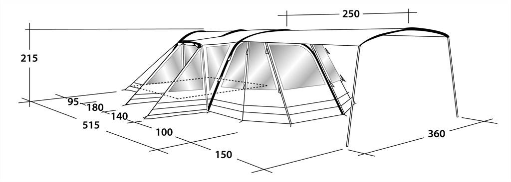 Kaufe Outwell Tomcat 5SA Zelt Air Tube System 5 Personen