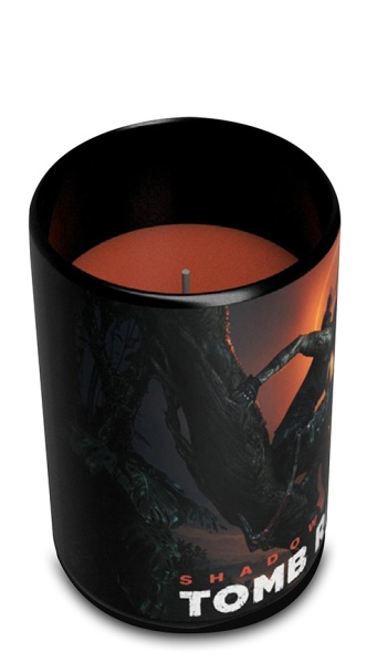Tomb Raider Glass Candle