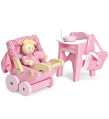 Le Toy Van - Nursery Set with Baby Doll (LME044)