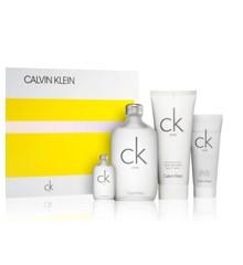 Calvin Klein - CK One EDT 200 ml + EDT 15 ml + Skin Moisturizer 200 ml + Body Wash 100 ml - Gavesæt