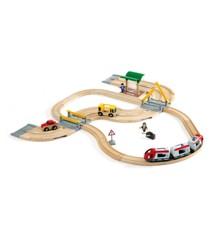 BRIO - Tog- og vejbane, rejsesæt (33209)