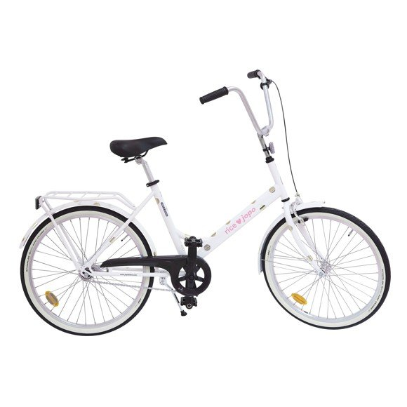 Rice - JOPO Bicycle White - Gold Dots