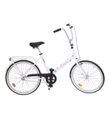 Rice - JOPO Cykel - Hvid m. Guld Prikker