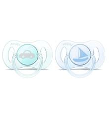 Philips Avent - 2 x Mini Sutter til nyfødte - Blå - 0-2 m