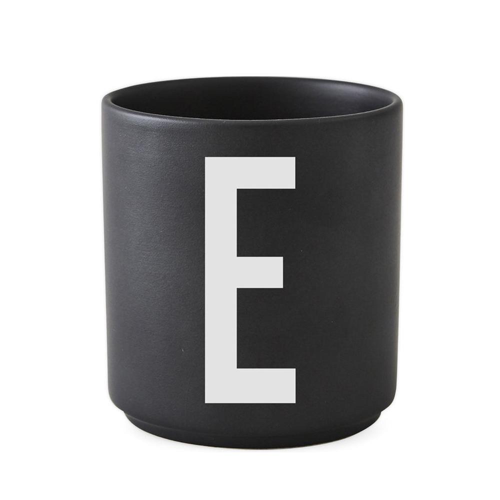 Design Letters - Personal Porcelain Cup E - Black