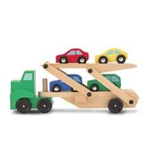 Melissa & Doug - Biltransporter med 4 biler (14096)