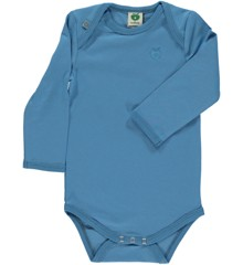 Småfolk - Organic Basic Longsleved Body - Cendre Blue