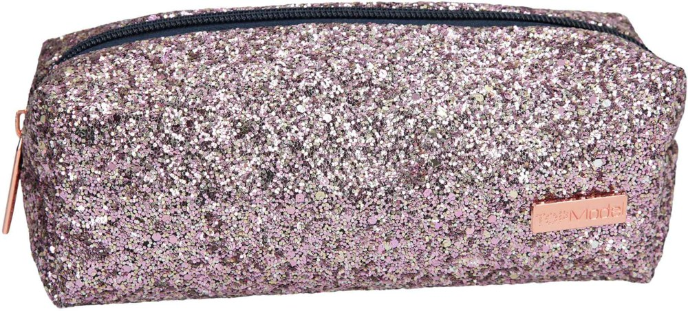 Top Model - Tube Pencil Case with Glitter - Pink (0410234)
