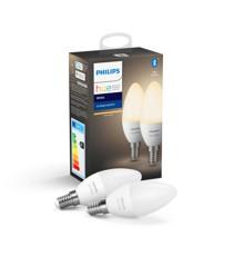 Philips Hue - E14 2-Pack - Warm White - Bluetooth - E