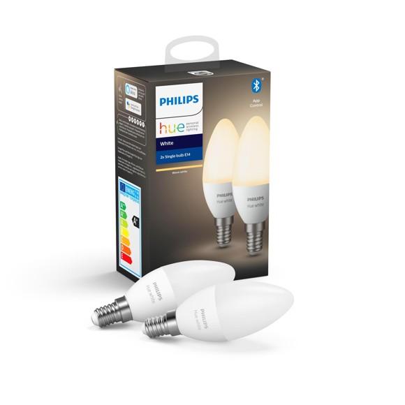 Philips Hue - E14 2-Pack - White - Bluetooth