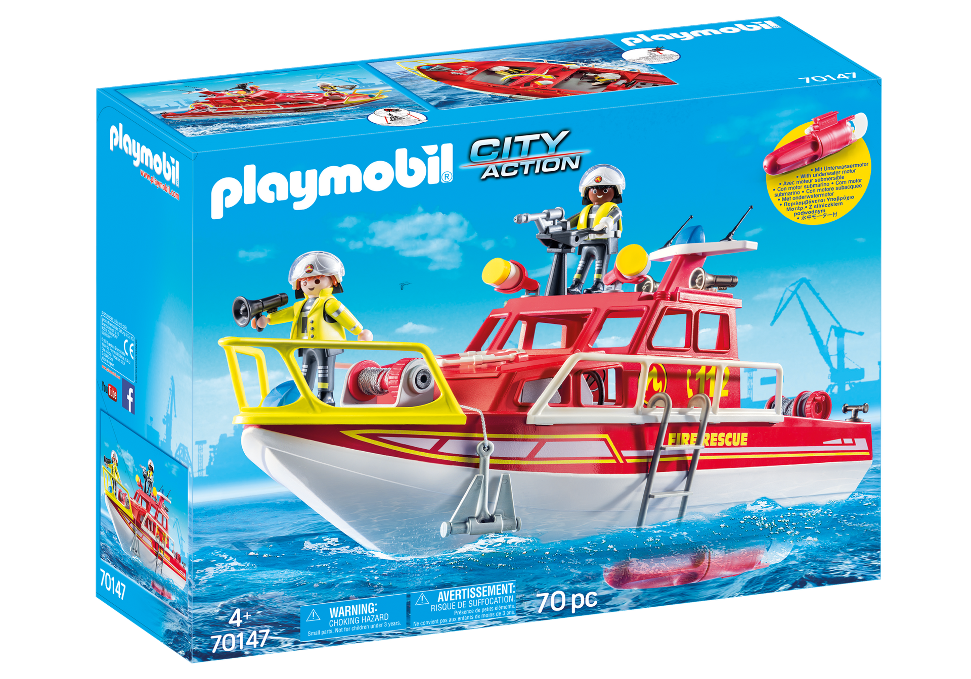 Playmobil - Fire Rescue Boat (70147)