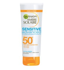 Garnier - Ambre Solaire - Sensitive Adv. Face Cream Sun Lotion 50 ml - SPF50+