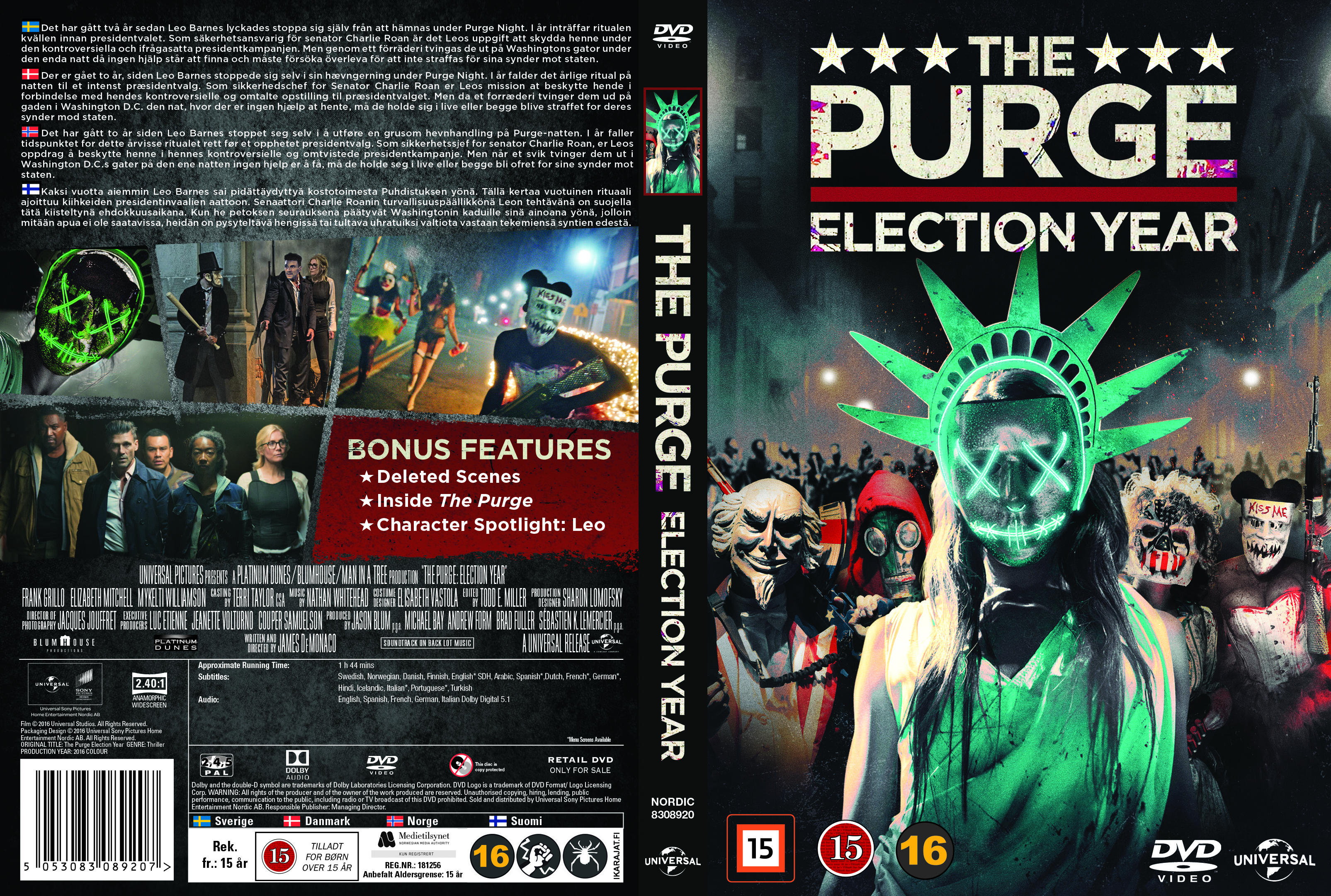 Buy The Purge 3 Election Year Dvd