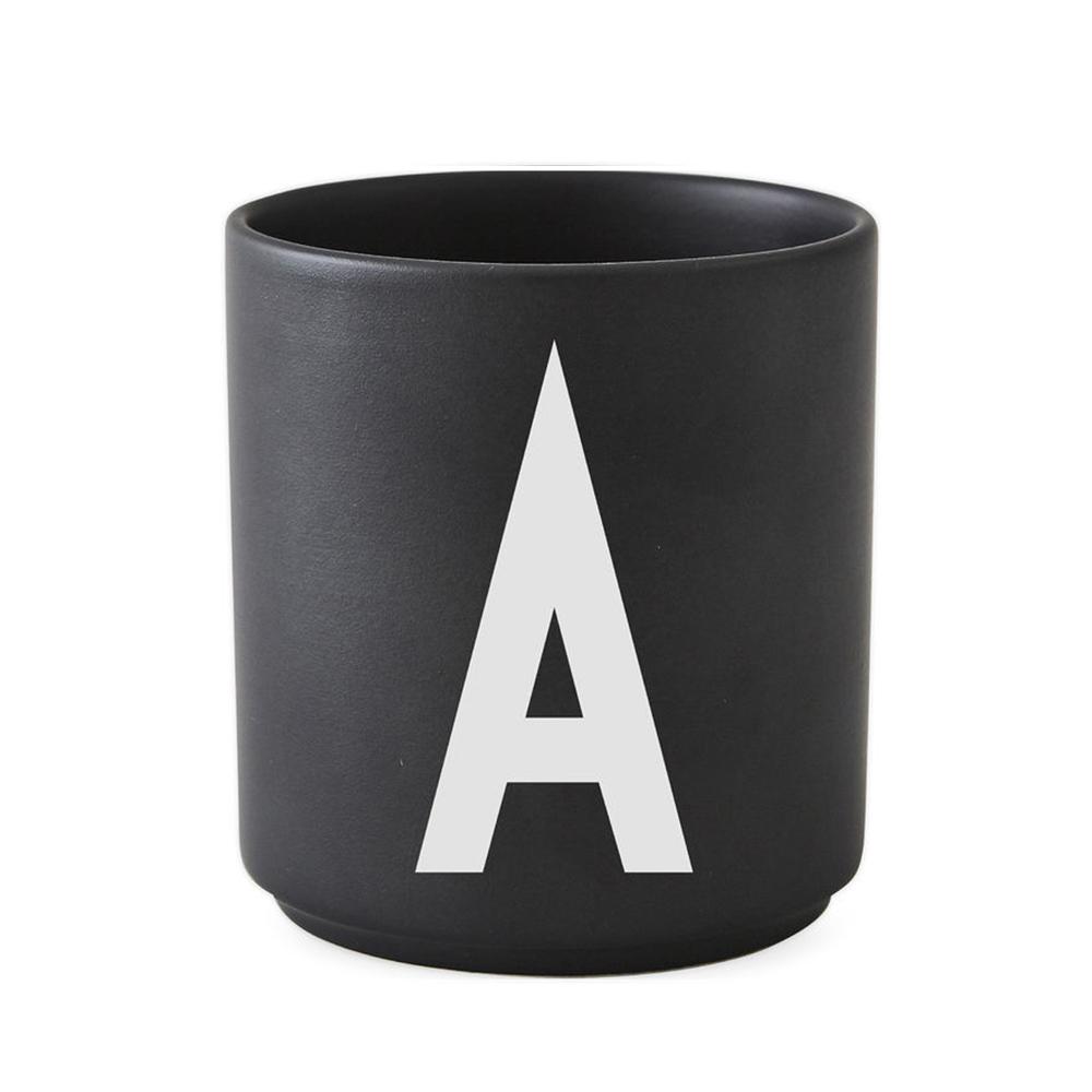 Design Letters - Personal Porcelain Cup A - Black (10204000A)